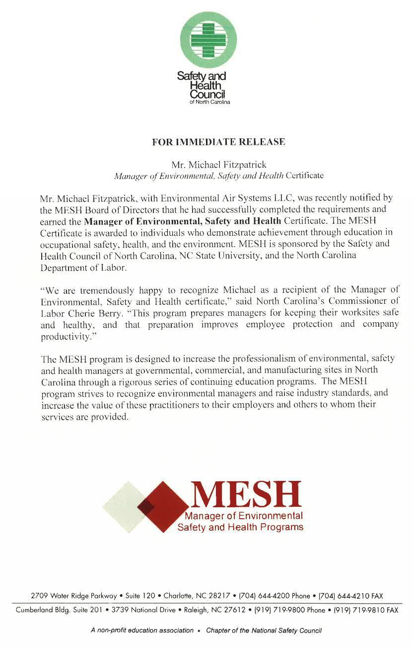 Fitzpatrick MESH award